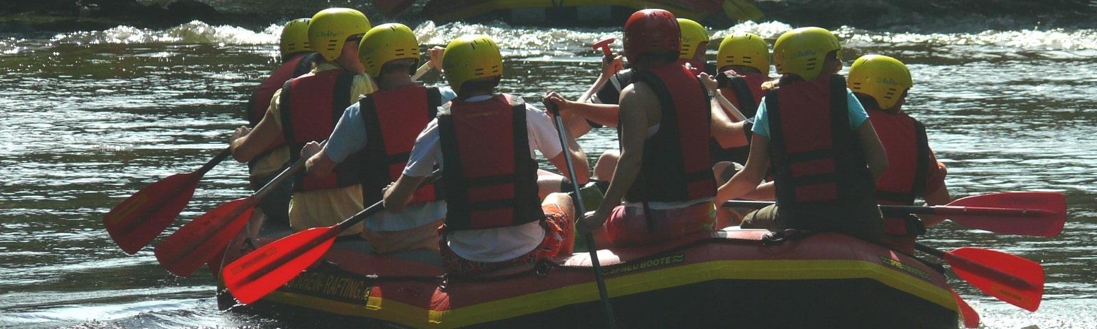 Rhein Rafting für Schulklassen