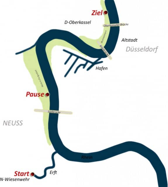 Rafting Düsseldorf Karte R2