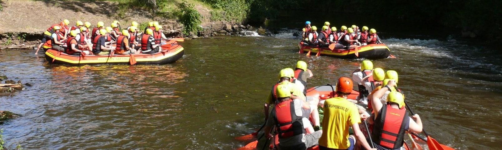 Rhein Rafting für Betriebsausflüge