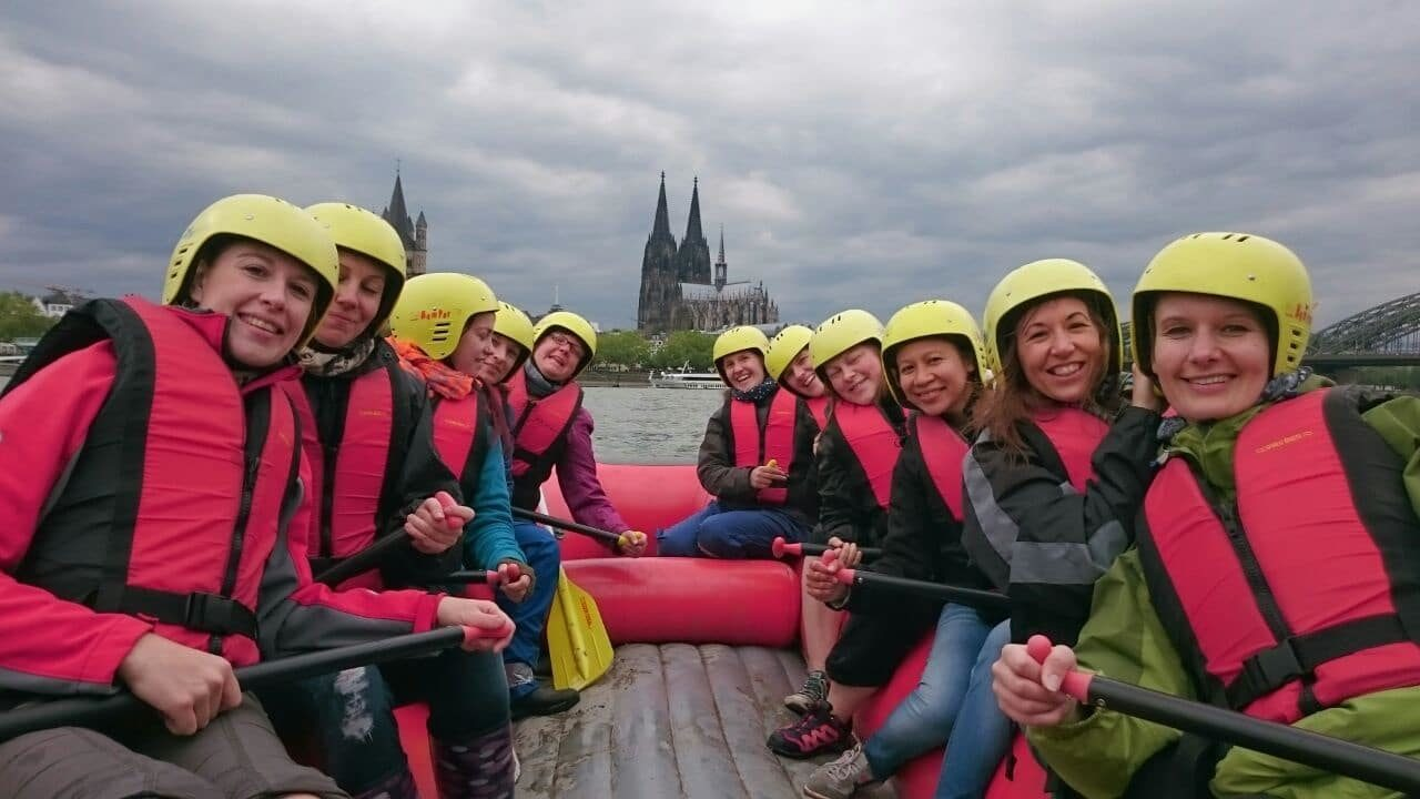 RAfting Köln Junggesellinnenabschied